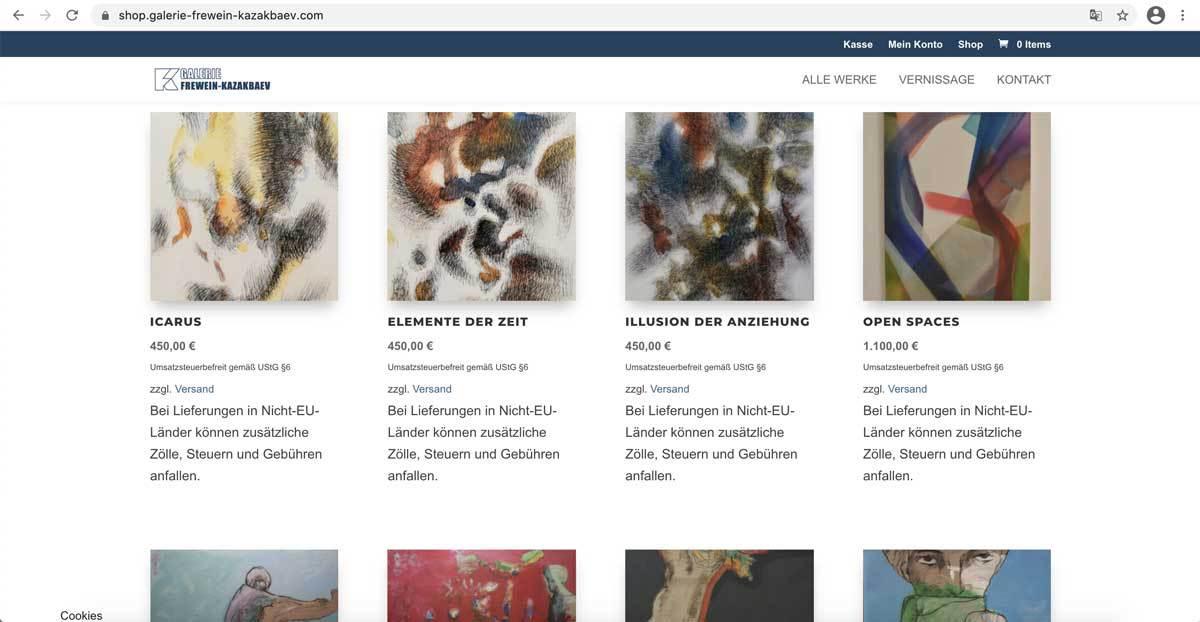 Webshop-Galerie-Frewein-Kazakbaev