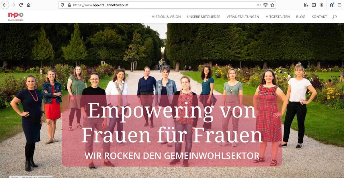 Webseite-NPO-Frauennetzwerk